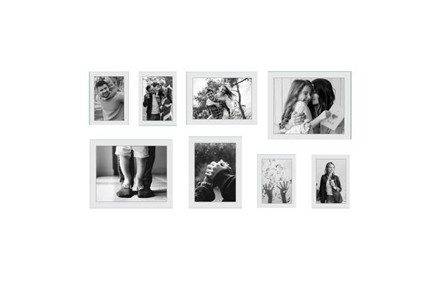 Kit de Porta Retratos X Preto com 8 Peças - Kapos