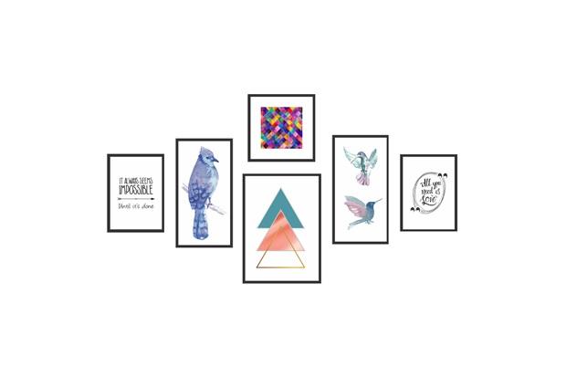 Kit de Quadros Decorativos Nature com 6 Peças - Kapos