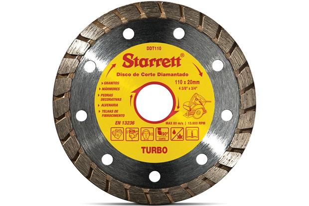 Kit Discos Diamantados Turbo de Corte Leve 3 Pague 2 Amarelo E Cromado - Starrett