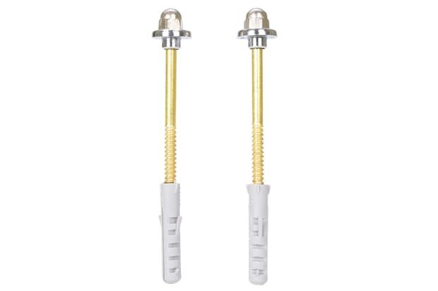Kit para Fixação de Lavatório Nº 10 Cromado E Dourado - Forusi