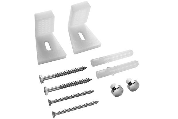 Kit para Fixação de Vaso Sanitário com Suporte Lateral Cromado E Branco - Blukit