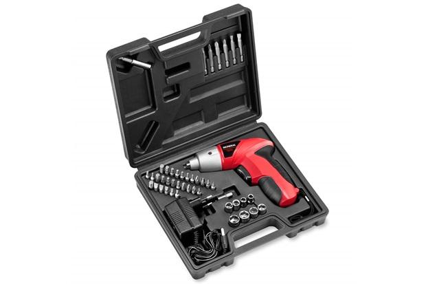 Kit Parafusadeira a Bateria 4,8v Bivolt Vermelha E Preta + Maleta - Mondial