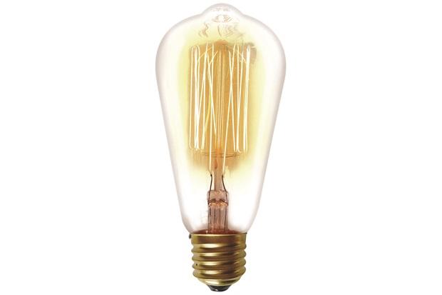 Lâmpada Incandescente com Filamento de Carbono St64 40w 110v 2200k Luz Amarela - Taschibra