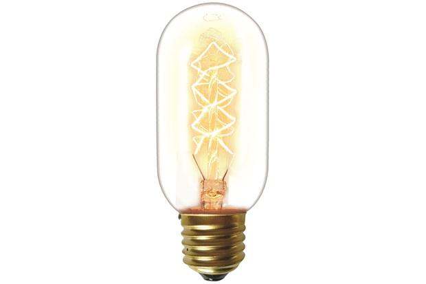 Lâmpada Incandescente com Filamento de Carbono T45 40w 110v 2200k Luz Amarela - Taschibra