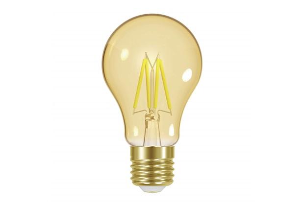Lâmpada Led a60 com Filamento Dimerizável 4w 110v Luz Âmbar - Taschibra