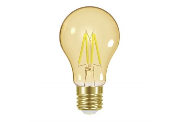 Lâmpada Led a60 com Filamento Dimerizável 4w 220v Luz Âmbar - Taschibra