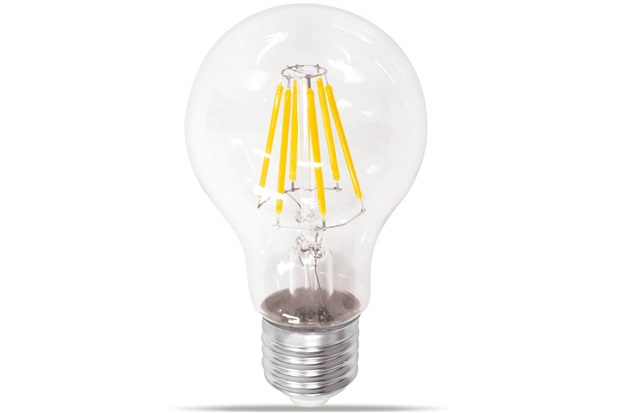 Lâmpada Led Bulbo com Filamento 6w Bivolt Luz Âmbar - Casanova