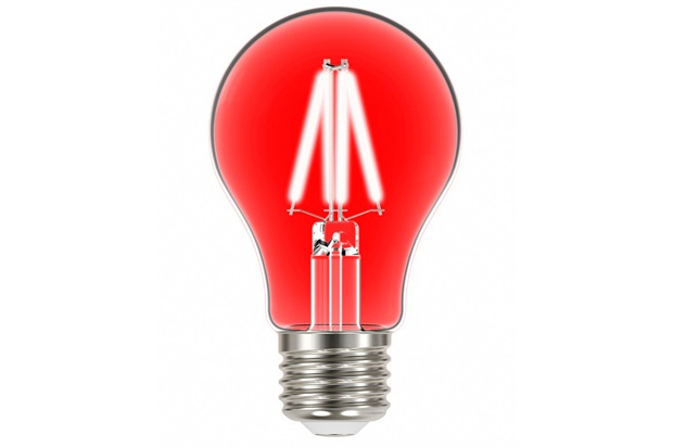 Lâmpada Led com Filamento Color a60 4w Autovolt Luz Vermelha - Taschibra
