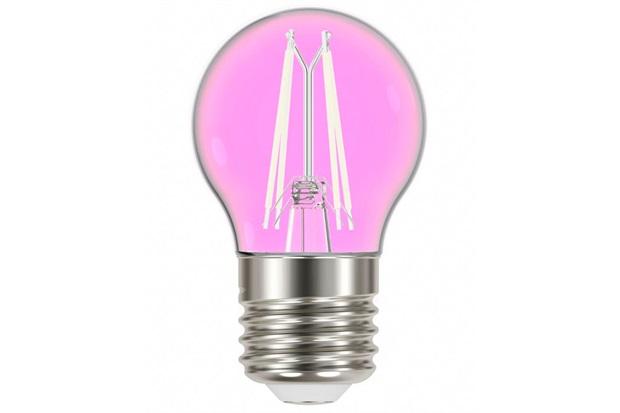 Lâmpada Led com Filamento Color Bolinha G45 4w Autovolt Luz Rosa - Taschibra