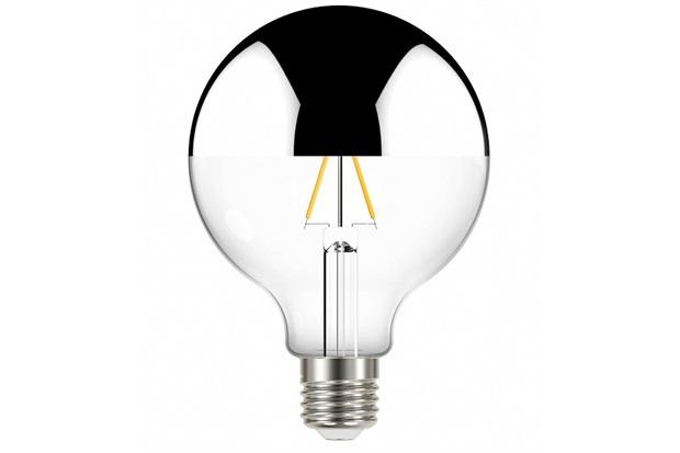 Lâmpada Led com Filamento Defletora Espelhada Globo G95 3w Autovolt Luz Quente - Taschibra