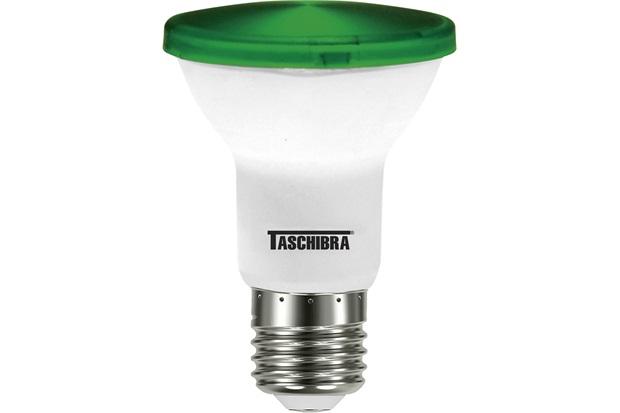 Lâmpada Led Par 20 Ip 65 E27 Verde - Taschibra