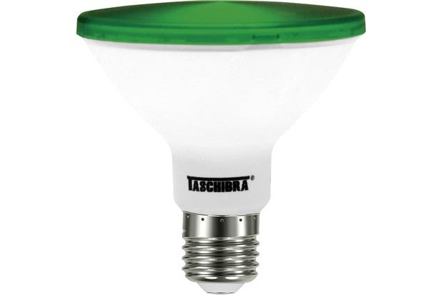 Lâmpada Led Par 30 Ip 65 E27 Verde - Taschibra
