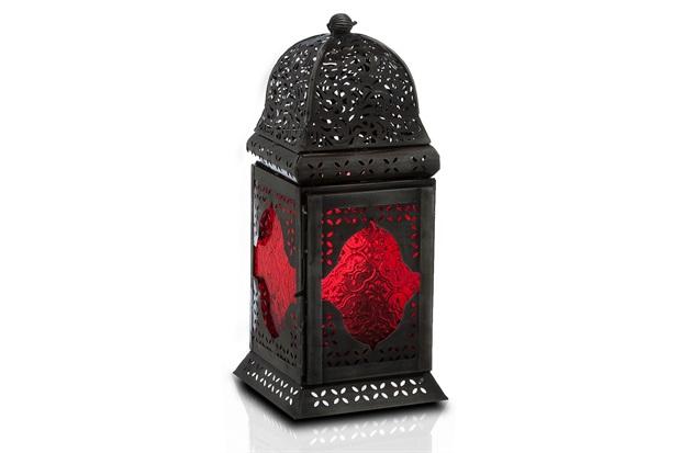 Lanterna em Ferro Ravi Marroquina 30cm  - Casa Etna