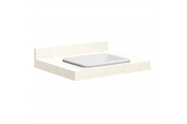 Lavatório para Banheiro com Cuba Embutida Max 60 22x60cm Bianco - Bumi Móveis