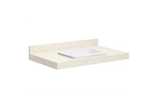 Lavatório para Banheiro com Cuba Embutida Max 80 22x80cm Bianco - Bumi Móveis