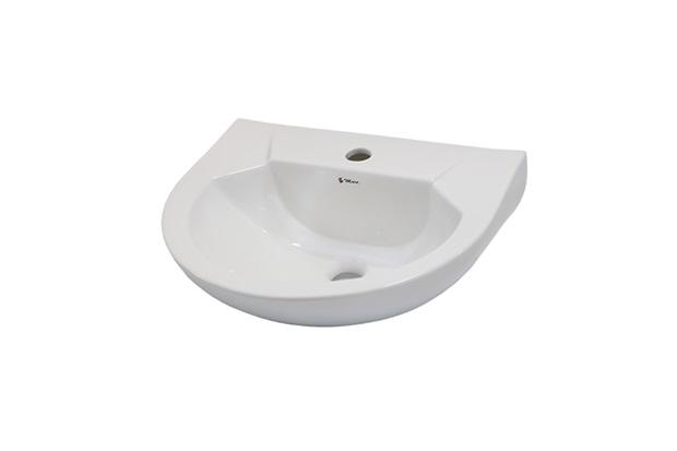 Lavatório para Coluna Gardênia 47x39cm Branco - Mari Louças Sanitárias