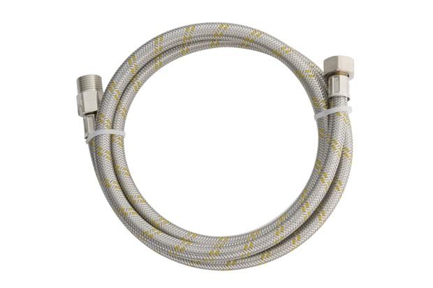 """Ligação Flexível de Aço Inox para Água Ntp1/2"""" X Bsp 1/2'' com 1,50metros - Blukit"""