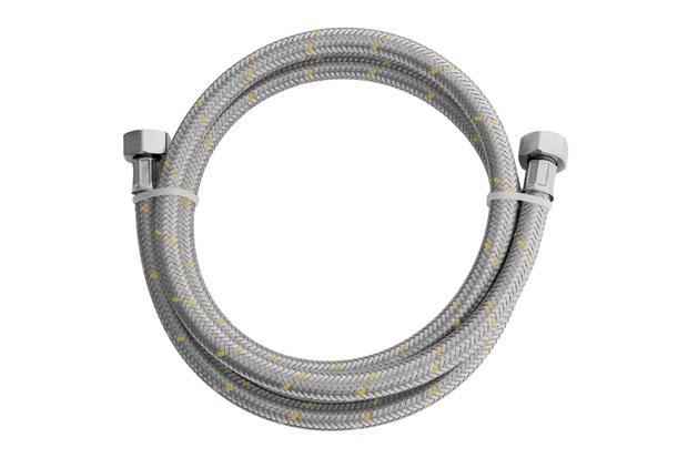 Ligação Flexível em Inox para Gás 1/2'' com Adaptador 1/2'' com 1,20 Metro - Blukit