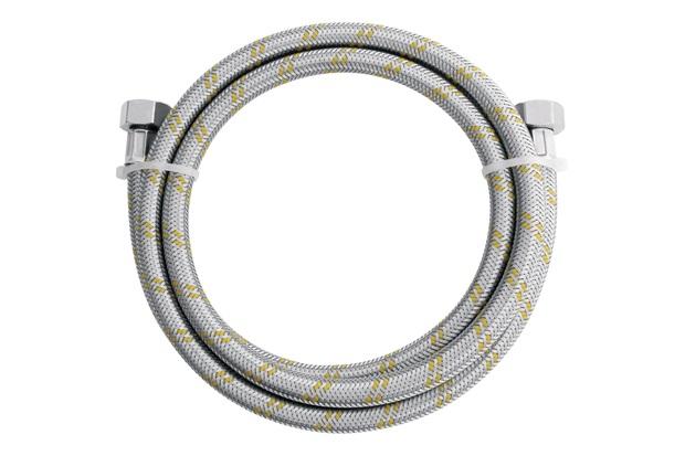 Ligação Flexível em Inox para Gás 1/2'' com Adaptador 1/2'' com 2 Metros - Blukit