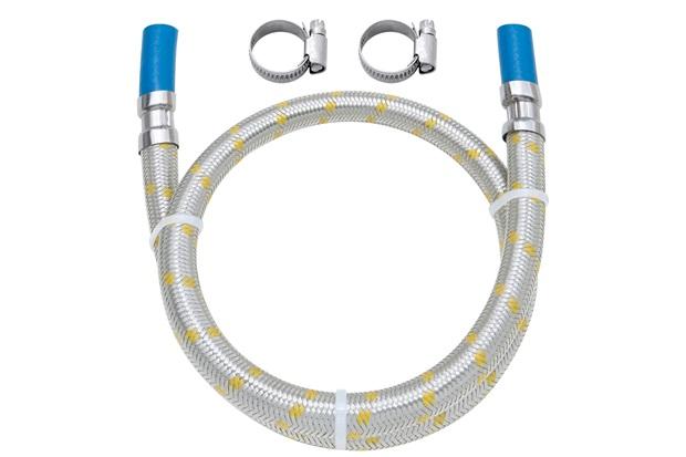 Ligação Flexível em Inox para Gás com Espigão 3/8'' E Abraçadeira com 1,50 Metro - Blukit