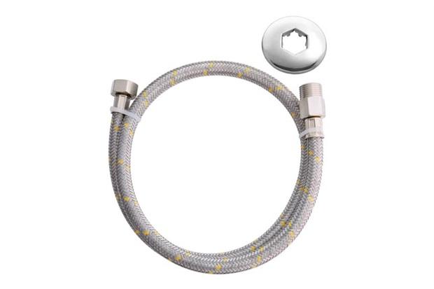 Ligação Flexível para Instalação de Gás com 1,2 Metro Niquelado - Blukit