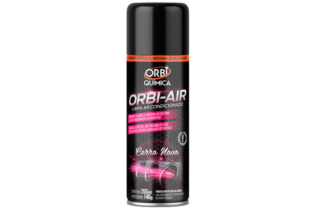 Limpa Ar Condicionado Orbi Air Carro Novo 200ml - Orbi Química