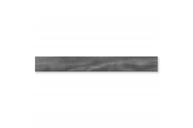 Listelo Borda Reta Rock Steel Matte Lux Cinza Escuro 7,5x120cm - Cerâmica Portinari