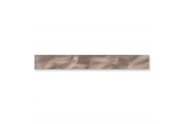 Listelo Borda Reta Rock Steel Matte Lux Ouro 7,5x120cm - Cerâmica Portinari