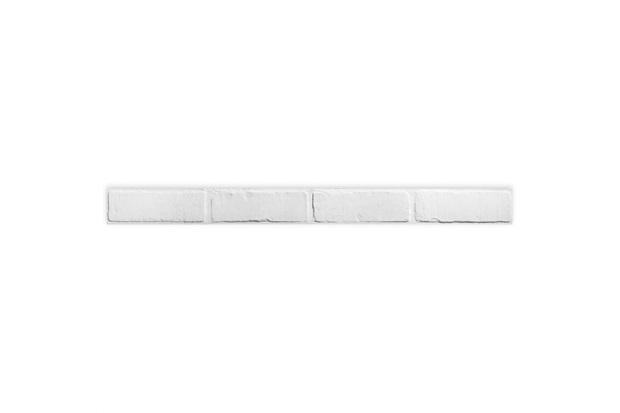 Listelo Brick Hd White Retificado Acetinado 7,1x87,7cm - Portinari