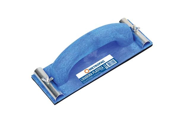 Lixadeira em Plástico 23x8cm com Alça Azul - Metropac