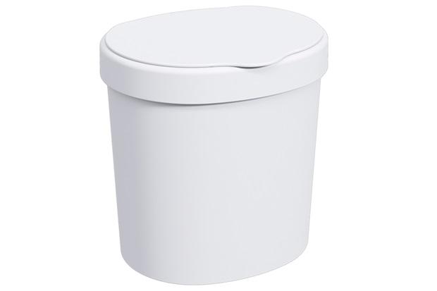 Lixeira Basic de 2,5 Litros Branca - Coza
