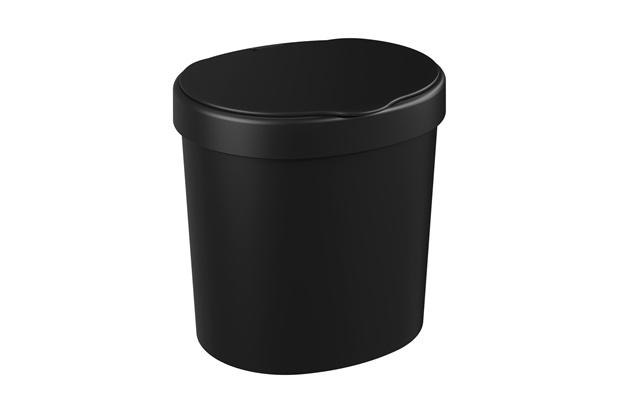 Lixeira Basic de 2,5 Litros Preta - Coza