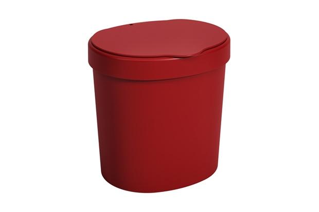 Lixeira de Pia em Plástico Cozy 2,5 Litros Vermelha - Casa Etna