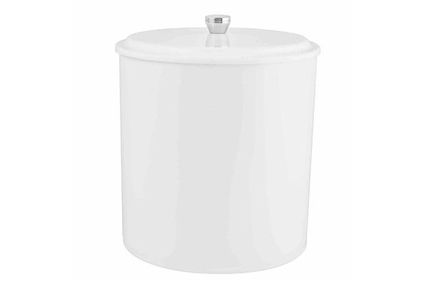 Lixeira em Polipropileno com Tampa de Sobrepor Pop 5 Litros Branca - Aquaplás