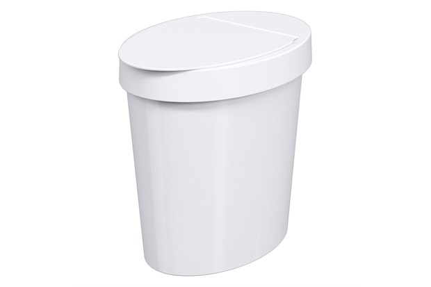 Lixeira Oval Glass de 5 Litros Branca - Coza
