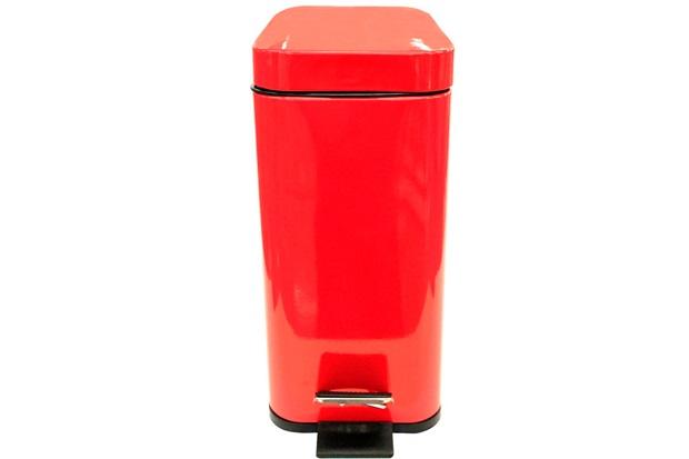 Lixeira Retangular com Cesto Removível 5 Litros Vermelha - Casanova