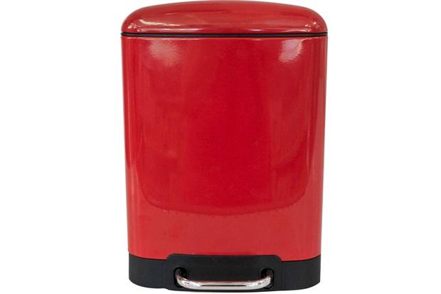 Lixeira Retangular com Pedal 6 Litros Vermelha - Casanova