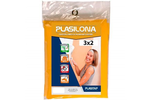 Lona Plástica Plasilona 3x2m Amarela - Plasitap