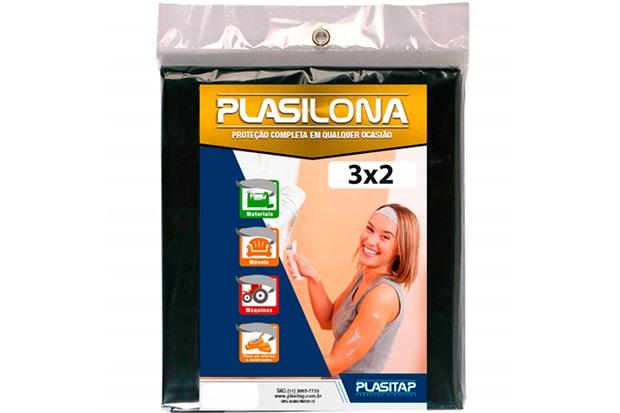 Lona Plástica Plasilona 3x2m Preta - Plasitap