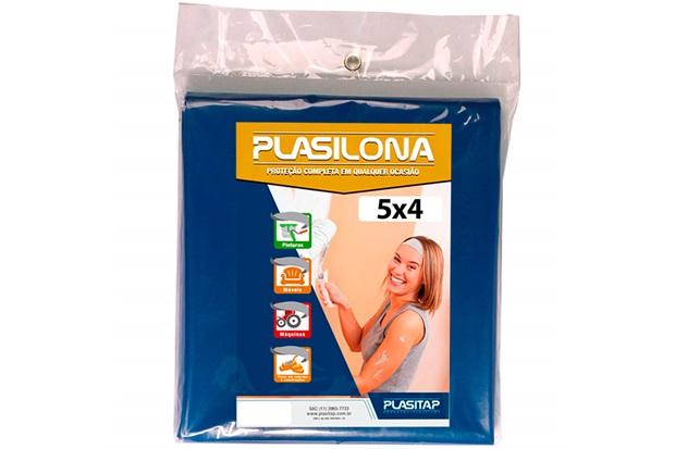 Lona Plástica Plasilona 5x4m Azul - Plasitap