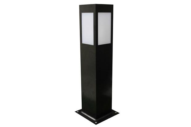 Luminária Balizadora em Alumínio Bolt 50cm Preta - Ideal Iluminação