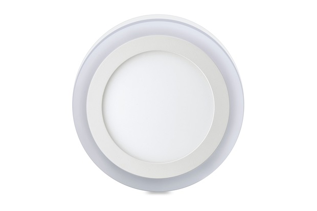 Luminária de Led de Sobrepor Redonda 3 Estágios Downlight 12w+6w Bivolt Branca 6500k - Elgin