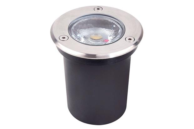 Luminária Led de Embutir para Solo 3w Bivolt 2700k Luz Amarela - Luminatti