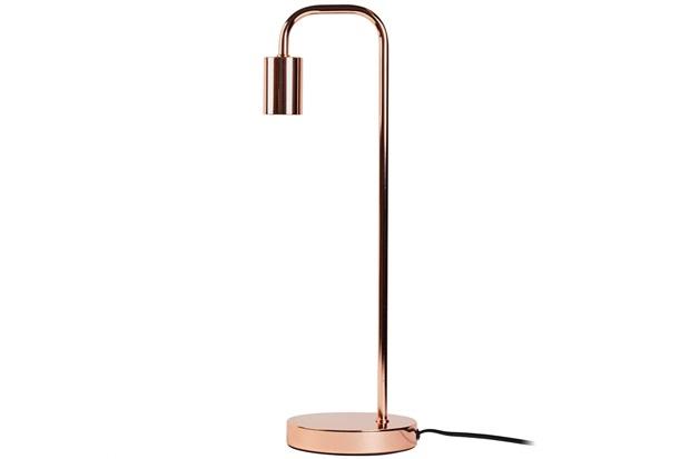 Luminária Metalic Brilhante 50x15cm Acobreada - Casa Etna