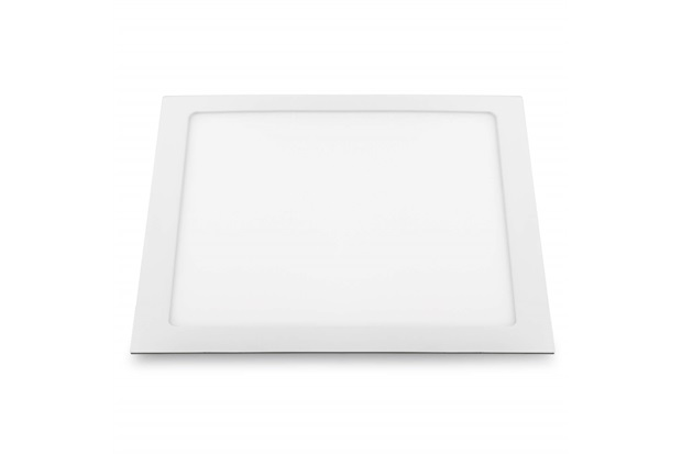 Luminária Painel de Led Quadrada de Embutir 18w Bivolt Slim Branca 3000k - Bronzearte