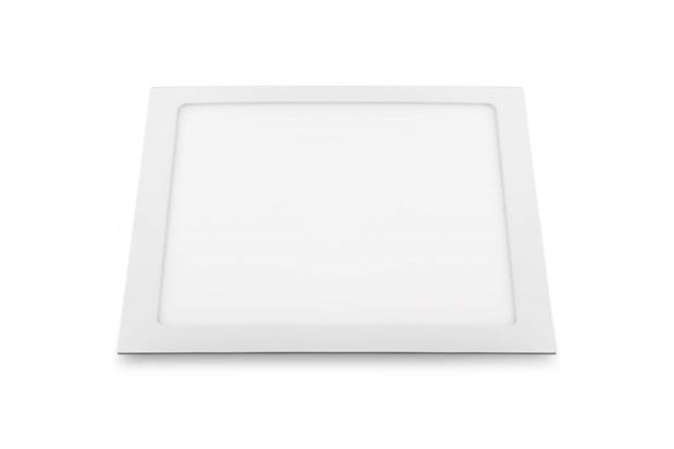 Luminária Painel de Led Quadrada de Embutir 18w Bivolt Slim Branca 6500k - Bronzearte
