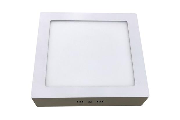 Luminária Painel Led de Sobrepor Quadrada Home 12w 6400k Bivolt Branca - Bronzearte