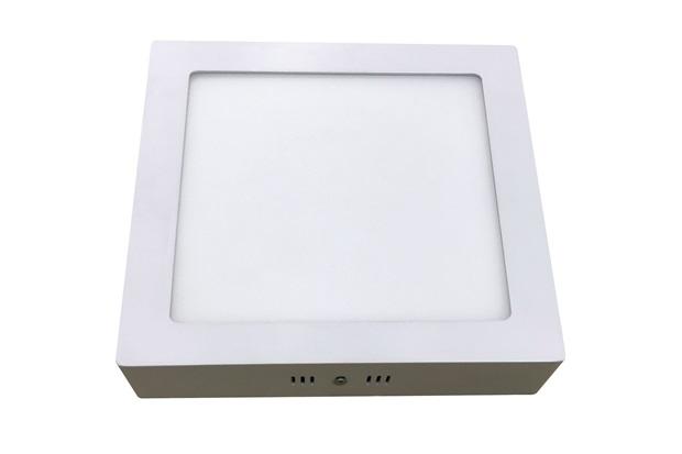 Luminária Painel Led de Sobrepor Quadrada Home 18w 3000k Bivolt Branca - Bronzearte