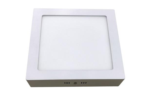 Luminária Painel Led de Sobrepor Quadrada Home 18w 6400k Bivolt Branca - Bronzearte