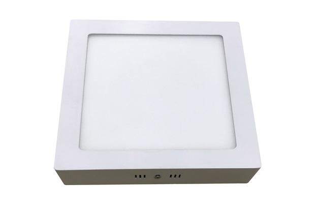 Luminária Painel Led de Sobrepor Quadrada Home 6w 6400k Bivolt Branca - Bronzearte